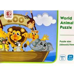 Puzzle 24 piese  Animale din jungla