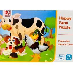 Puzzle 24 piese  Animale de la ferma