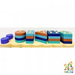 Sortator Montessori forme geometrice Omida