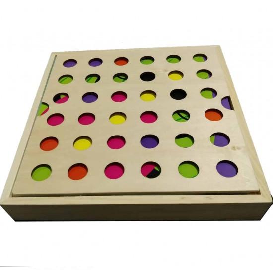 Joc mozaic Creativ cu piuneze din lemn