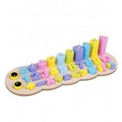 Omida educativa de stivuire, forme si cifre Joc din lemn