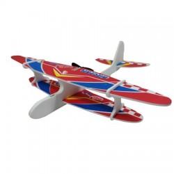 Avion din polistiren cu elice, incarcare USB, lungime 28 cm