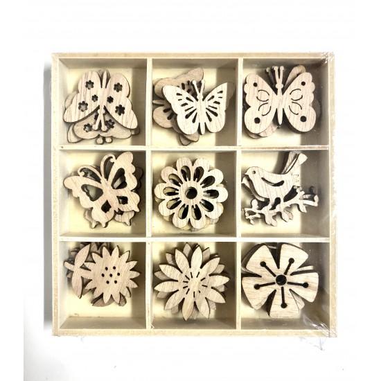 Cutiuta cu accesorii din lemn de sortare Montessori