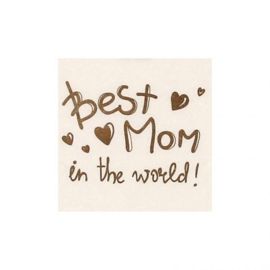 "Body crem maneca scurta ""best mom in the world"""