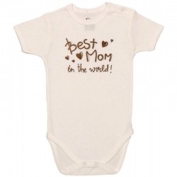 "Body crem maneca scurta ""best mom in the world"""