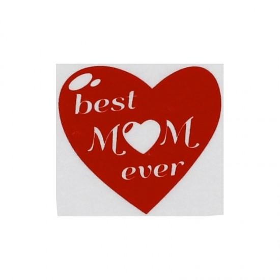 """Body Alb cu maneca lunga, """"Best Mom ever """""""