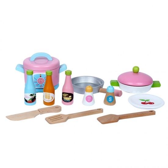 Jucarie de rol bucatarie din lemn japoneza pentru copii