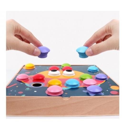Joc Button idea cu butoni din lemn
