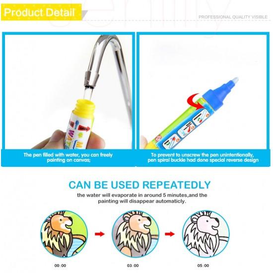 Carte reutilzabila de colorat cu apa - Fete