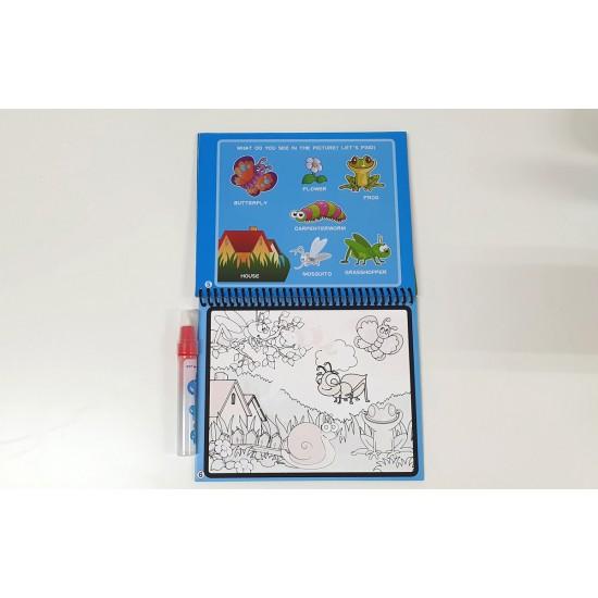 Carte reutilzabila de colorat cu apa - Insecte
