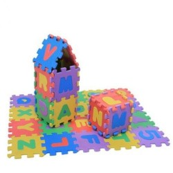 Covor Puzzle Literele alfabetului Mari si Mici