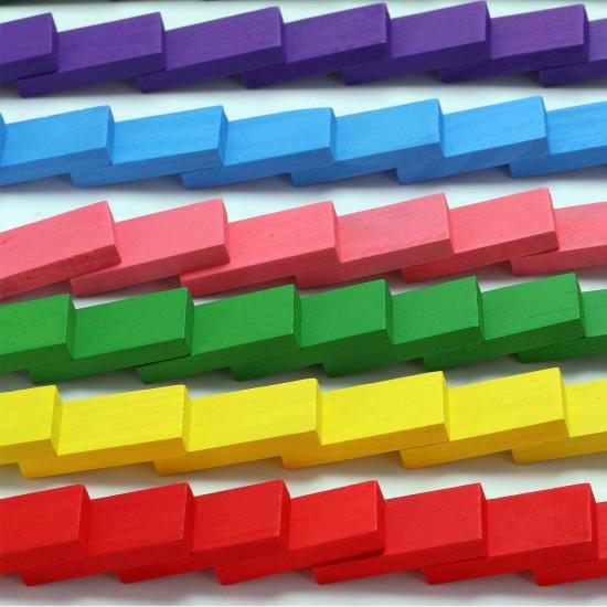 Joc Domino din lemn colorat 360 piese