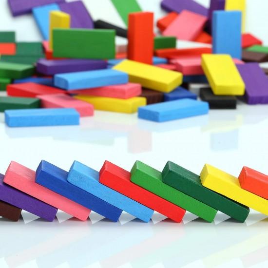 Joc Domino din lemn colorat 1000 piese