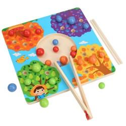 Joc de sortare si rabdare din lemn Montessori