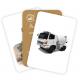 Carti de joc Montessori - Masini utilitare