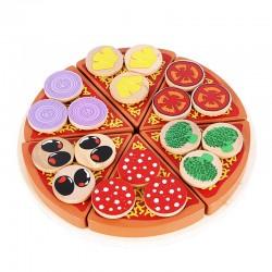 Jucarie de rol din lemn pizza
