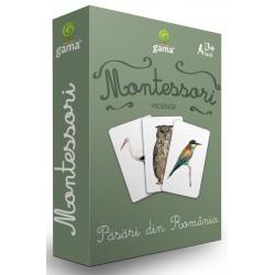 Carti de joc Montessori - Pasari din România