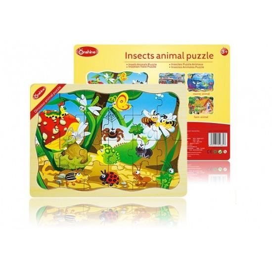 Puzzle lemn 24 piese Onshine - Insecte