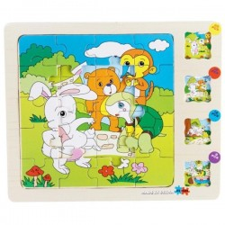 Puzzle educativ multistrat animale din padure
