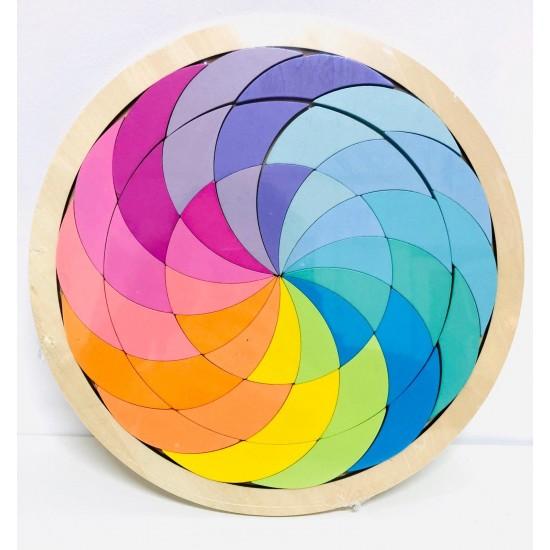 Spirala culorilor din lemn pastel