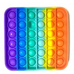 Pop it din silicon Patrat Multicolor