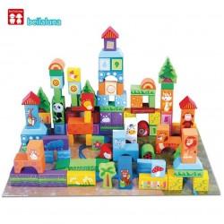 Set 100 cuburi Cute Animal Blocks Beilaluna