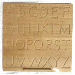 Tablă din lemn Montessori Reversibila Litere
