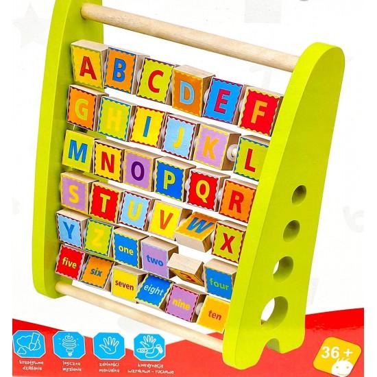 Abac din lemn cu litere si cifre