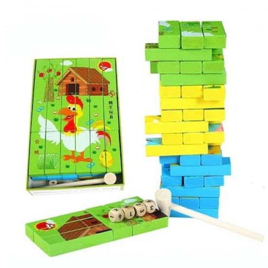 Puzzle Jenga Multifuncional
