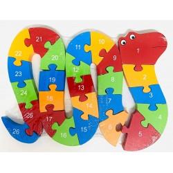 Puzzle lemn 26 piese Sarpe