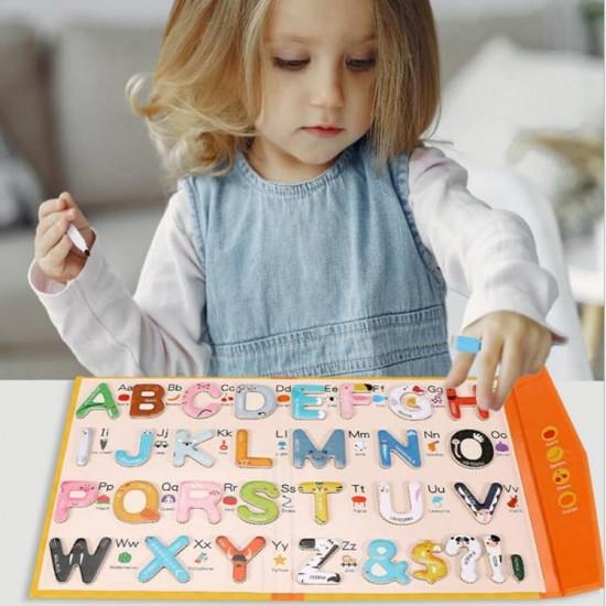 Caiet magnetic Alfabet cu marker