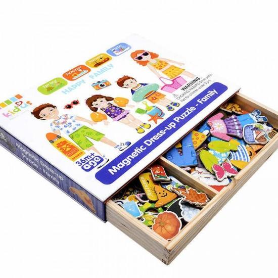 Puzzle magnetic educativ Familia mea Kidus