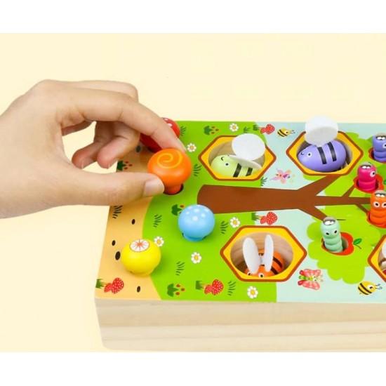 Copacul cu albine joc educativ 3 in 1