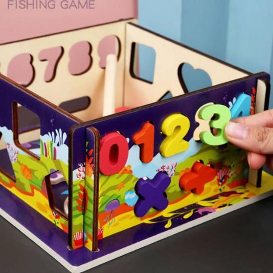 Joc educativ de pescuit si sortare cifre si forme