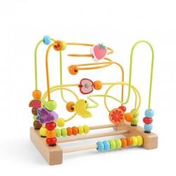 Labirint 3D cu fructe  Joc dexteritate
