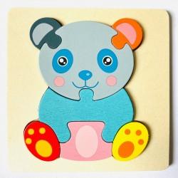 Puzzle 3D din lemn Urs Panda