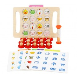 Joc Montessori de memorie cu clepsidra