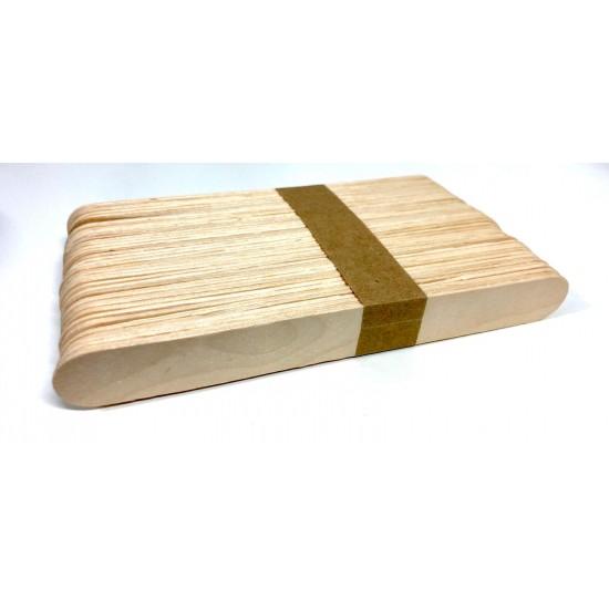 Set 50 bete din lemn natur 15x2 cm