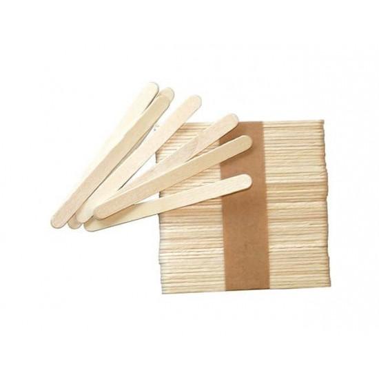 Set 50 buc bete din lemn natur 11.4x1 cm