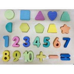 Puzzle 3D din lemn- Invatam matematica