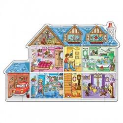 Puzzle podea- Casuta papusilor
