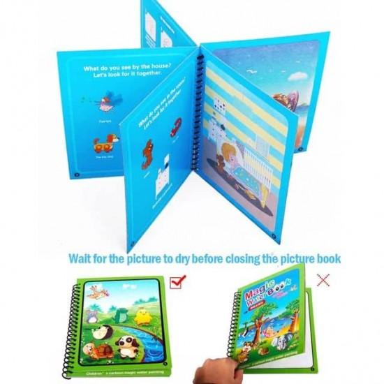 Carnet de colorat cu Apa magica Reutilizabila