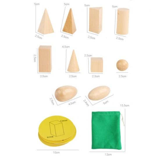 Set 20 pierse corpuri geometrice