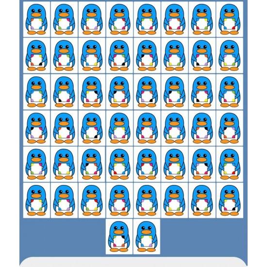 Joc educativ de observare si potrivire Pinguinii