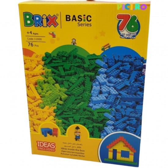 Set 76 Piese de joaca libera tip Lego Brix