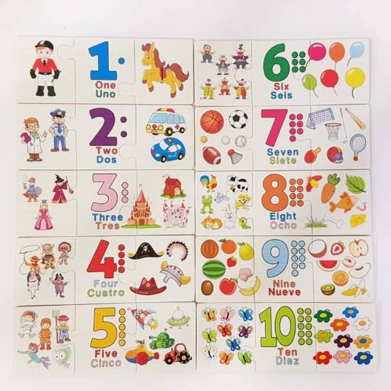 Puzzle trio Asocieri de numere numere