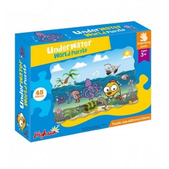 Puzzle Animale marine 45 piese