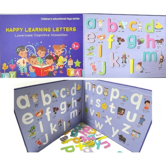 Caiet magnetic cu Litere mici Happy Learning