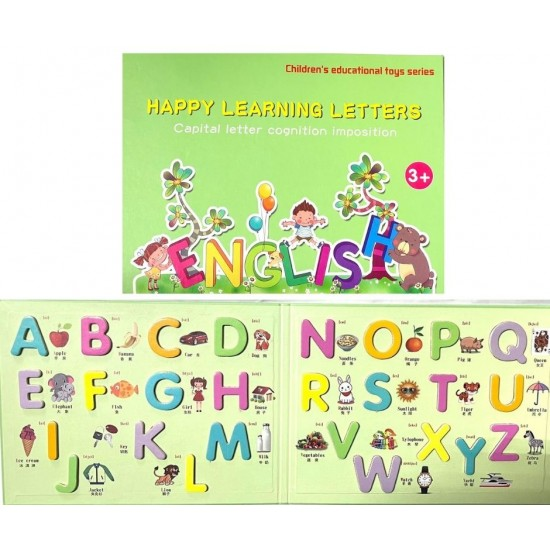 Caiet magnetic cu Litere Mari Happy Learning