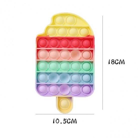 Pop it Antistres din silicon Inghetata Multicolora